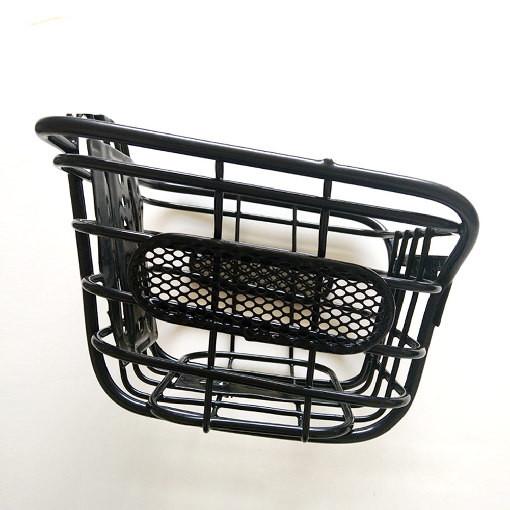 Children Cuboid Steel Wire Front Black Basket Bike Accessories Bicycle Mountain Bike black