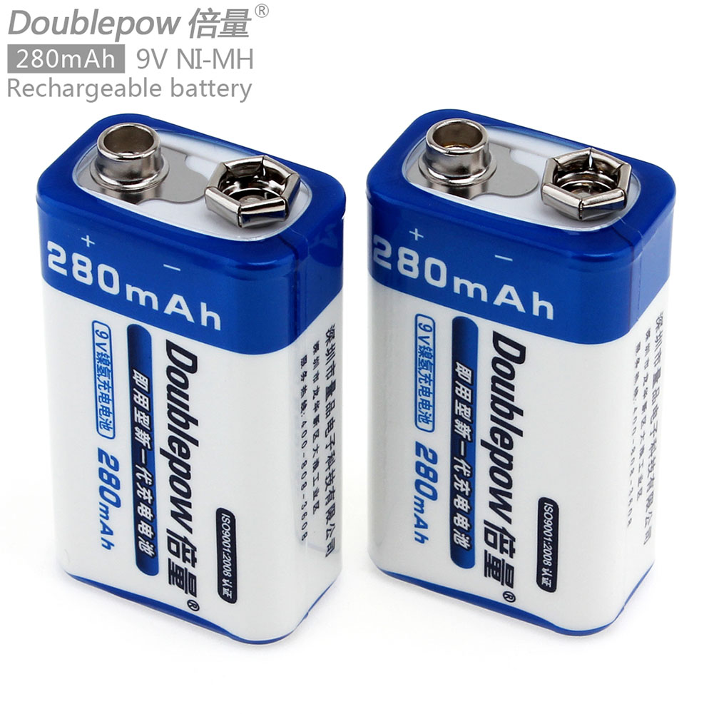 9V Ni-MH Rechargeable Battery NiMH 9V Battery for Wireless Microphone Remote Control Doorbell