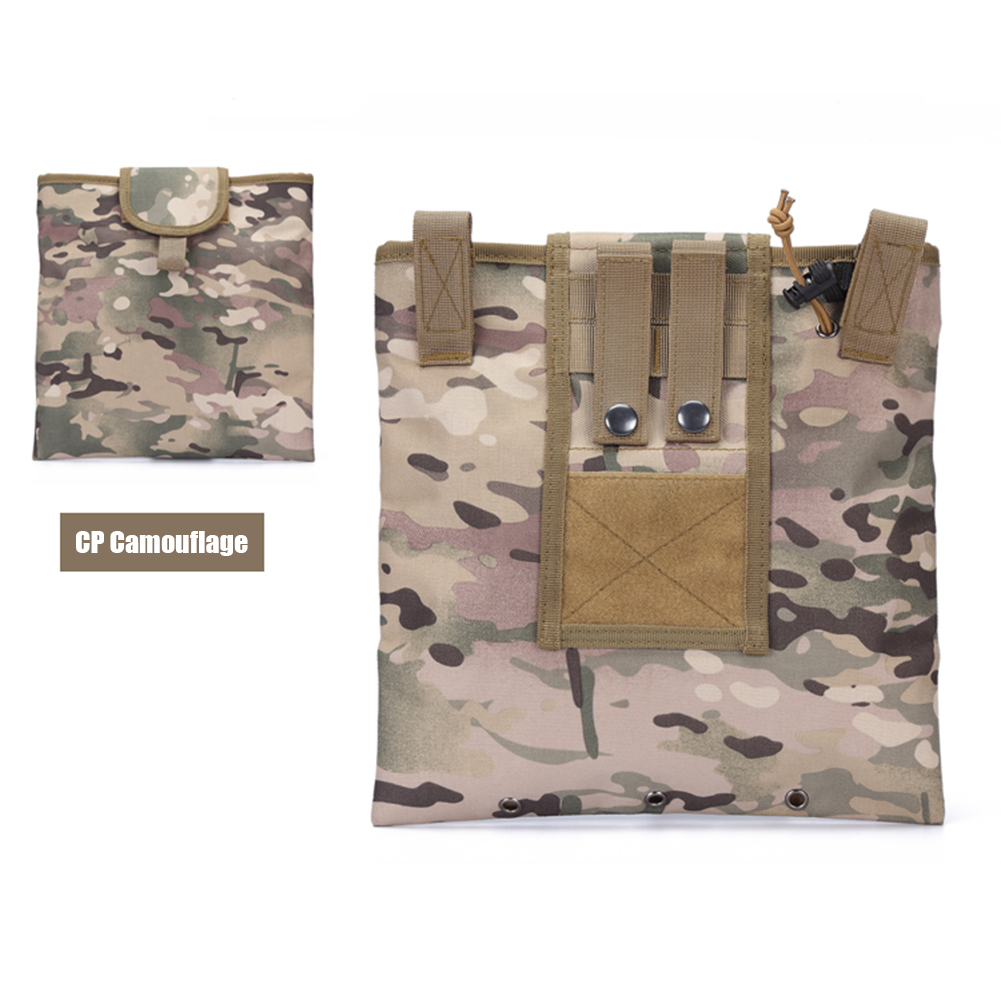 FGJ Molle Recycling Storage Bag Outdoor Multifunctional Package Magazine Dump Pouch CP camouflage_23cm*29cm