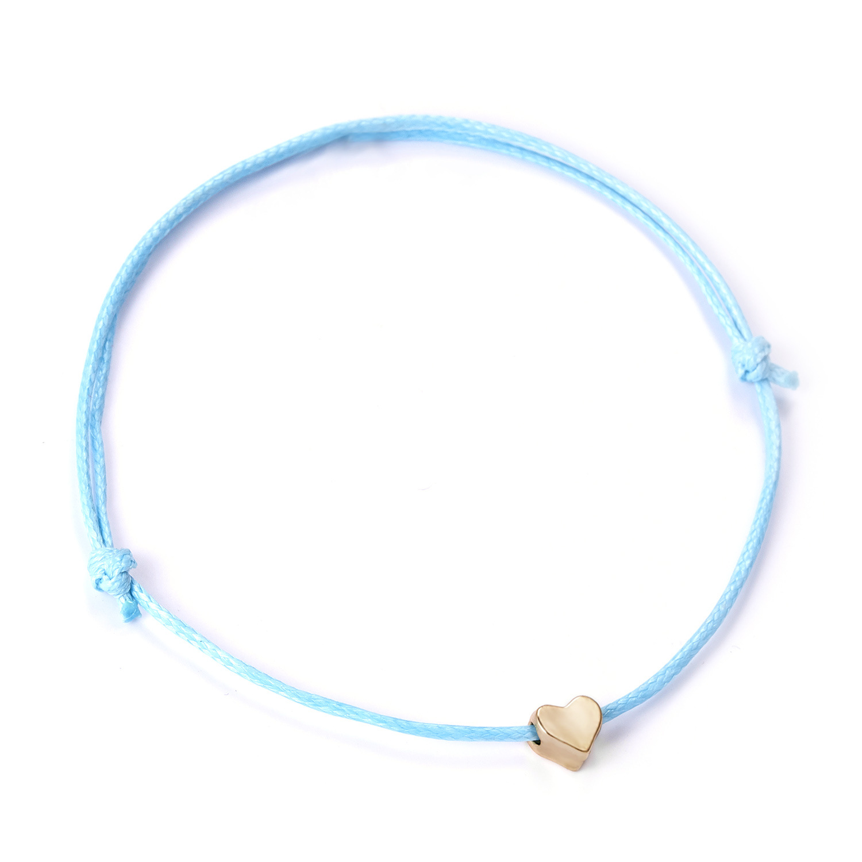 Couple Simple Design Hand-woven Adjustable Love Heart Bracelet Accessories BR18Y0164-4
