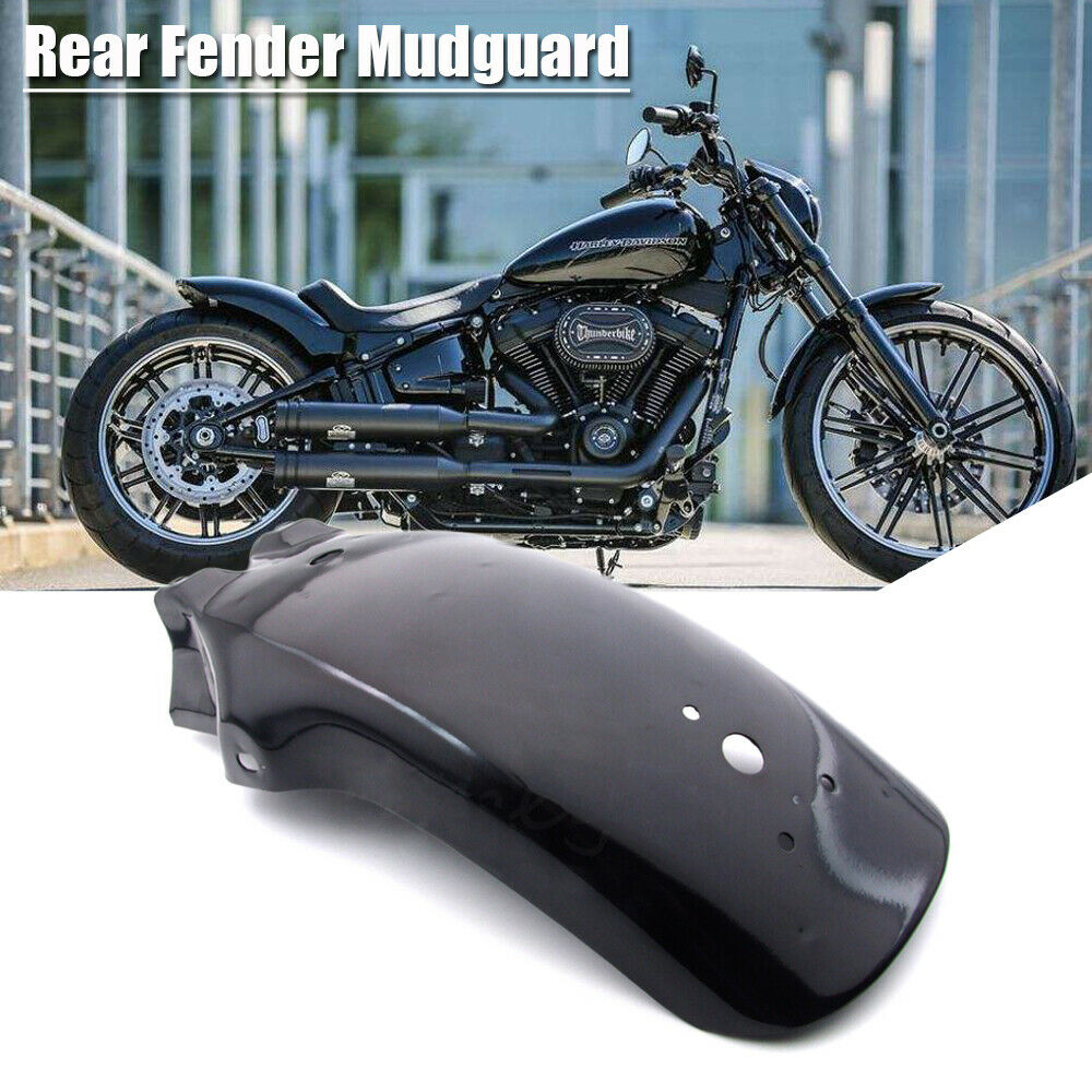Motorcycle Rear Metal Mudguard for Honda Yamaha Chopper Cruiser black