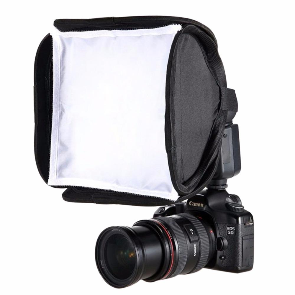 23x23cm Portable Flash Light Softbox Speedlight Diffuser Soft Box Cover black