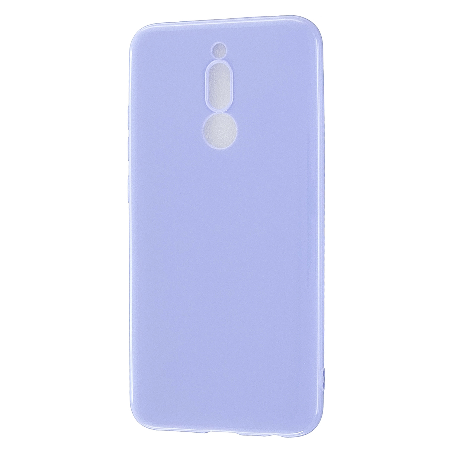 For Redmi 8 / Redmi 8A Cellphone Cover Glossy TPU Phone Case Defender Full Body Protection Smartphone Shell Taro purple