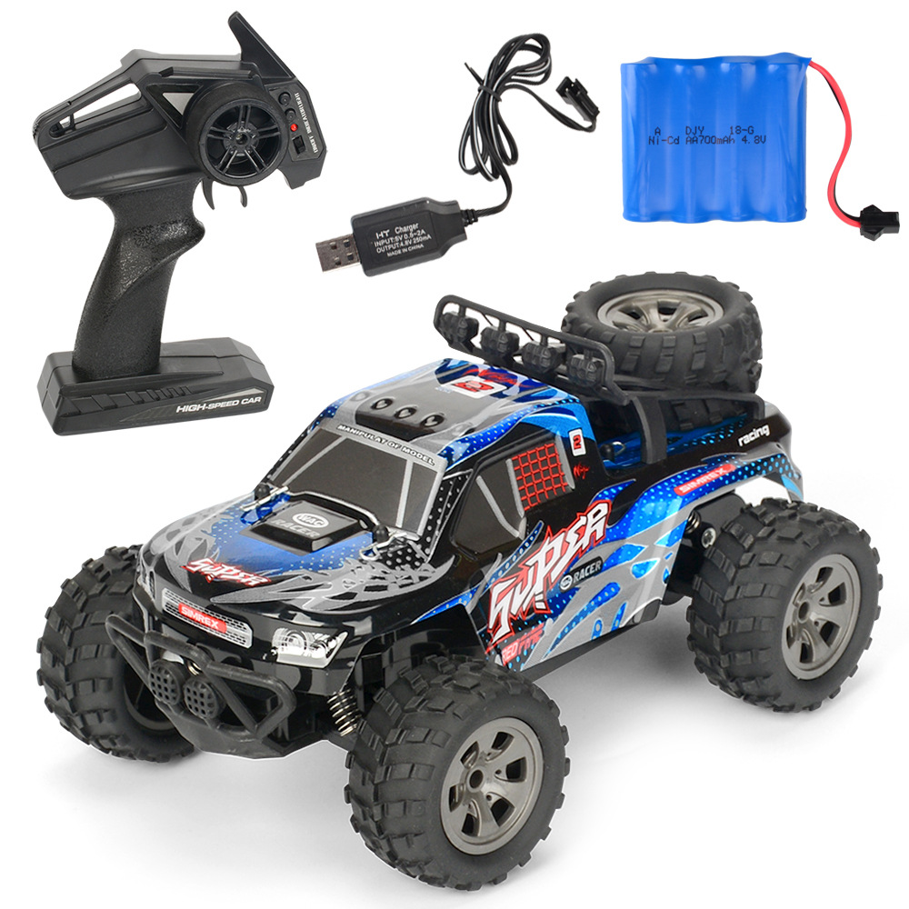 MGRC Mini RC Car 1/18 2.4G 4CH 2WD High Speed 20KM/h Brush Crawler Remote Controller Car Kids Toys blue