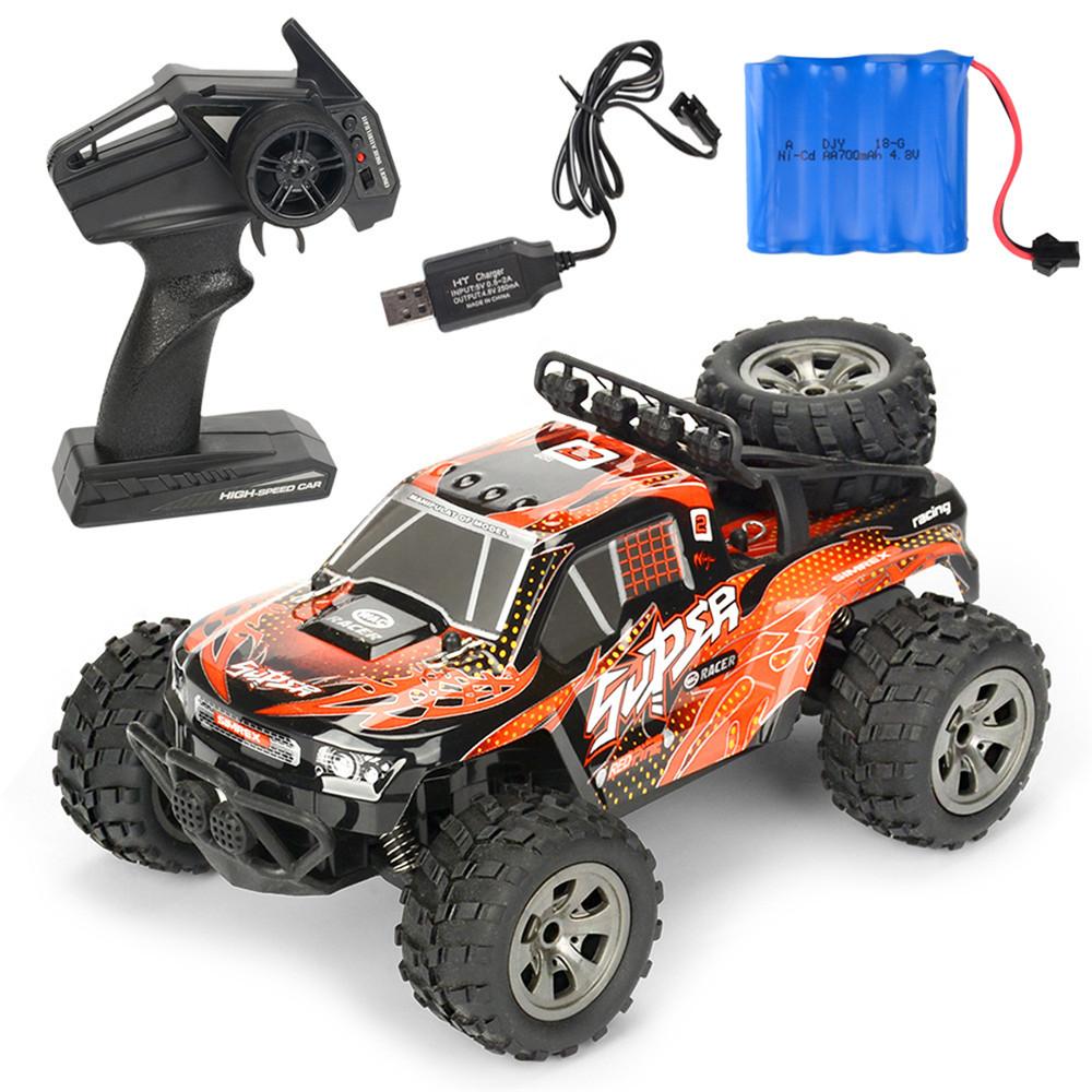 MGRC Mini RC Car 1/18 2.4G 4CH 2WD High Speed 20KM/h Brush Crawler Remote Controller Car Kids Toys Orange