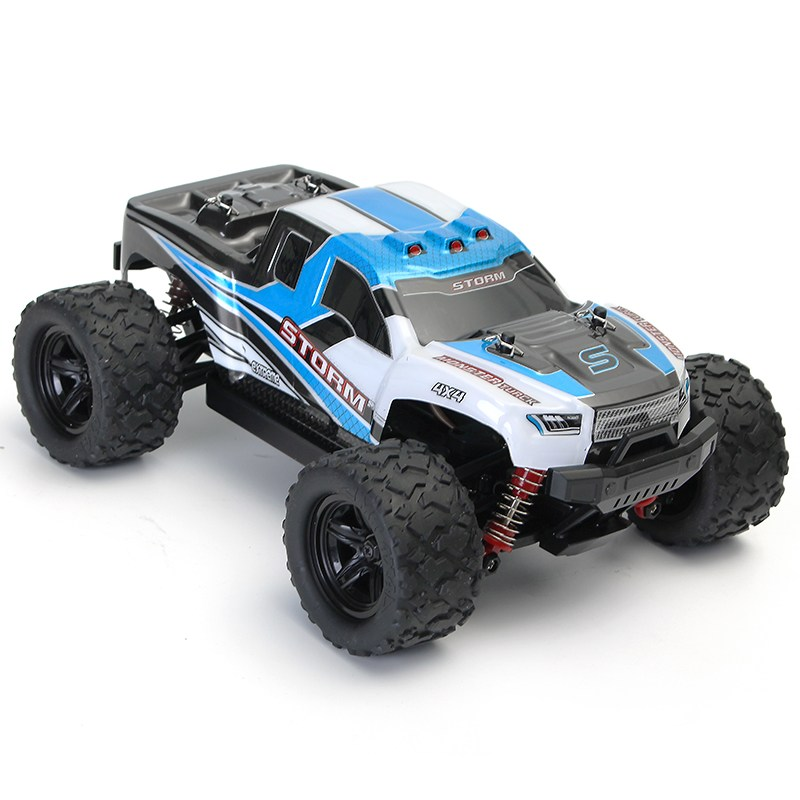 HS 18301/18302 1/18 2.4G 4WD High Speed Big Foot RC Racing Car OFF-Road Vehicle Toys blue