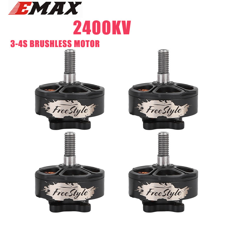 1/4PCS Emax Freestyle FS2306 1700KV 3-6S / 2400KV 3-4S Brushless Motor for Buzz Hawk RC Drone FPV Racing Spare Parts Accessories 4pcs 2400kv