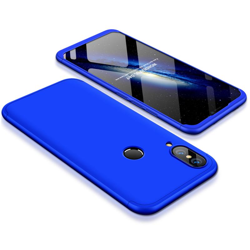 For HUAWEI P20 Lite/Nova 3E 3 in 1 Fashion Ultra Slim Full Protective Back Cover  blue