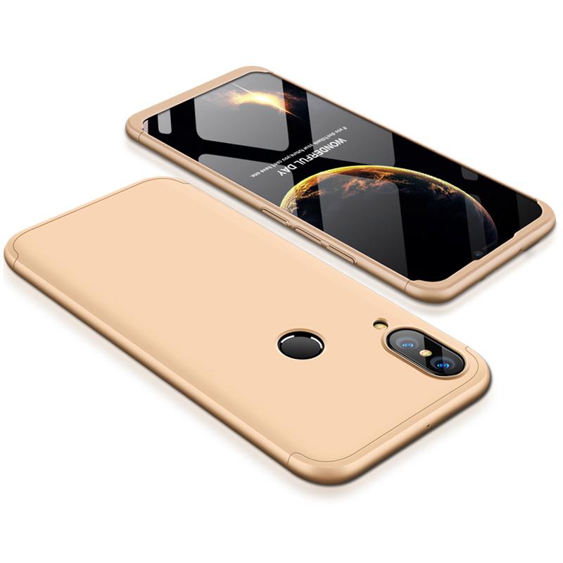 For HUAWEI P20 Lite/Nova 3E 3 in 1 Fashion Ultra Slim Full Protective Back Cover  Gold