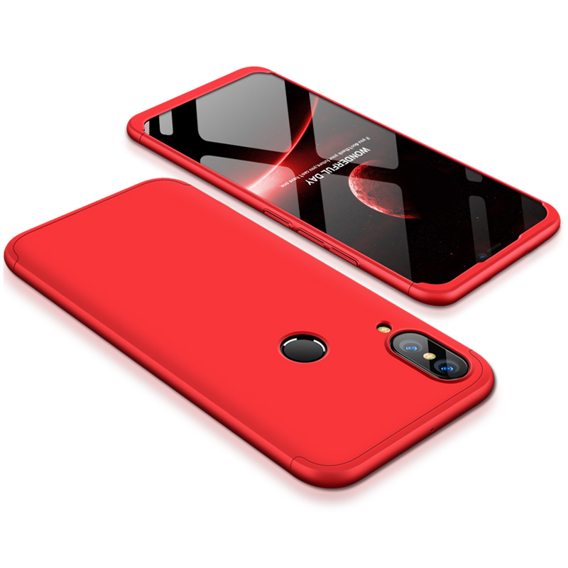 For HUAWEI P20 Lite/Nova 3E 3 in 1 Fashion Ultra Slim Full Protective Back Cover  red