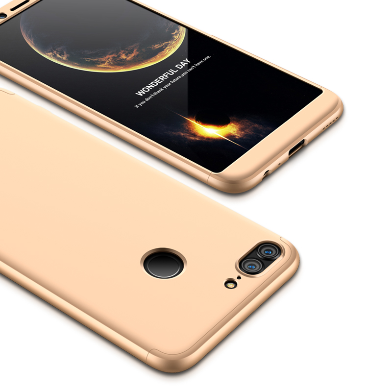 For HUAWEI Honor 9 Lite Full Body 360 Degree Protection PC Back Cover  Gold