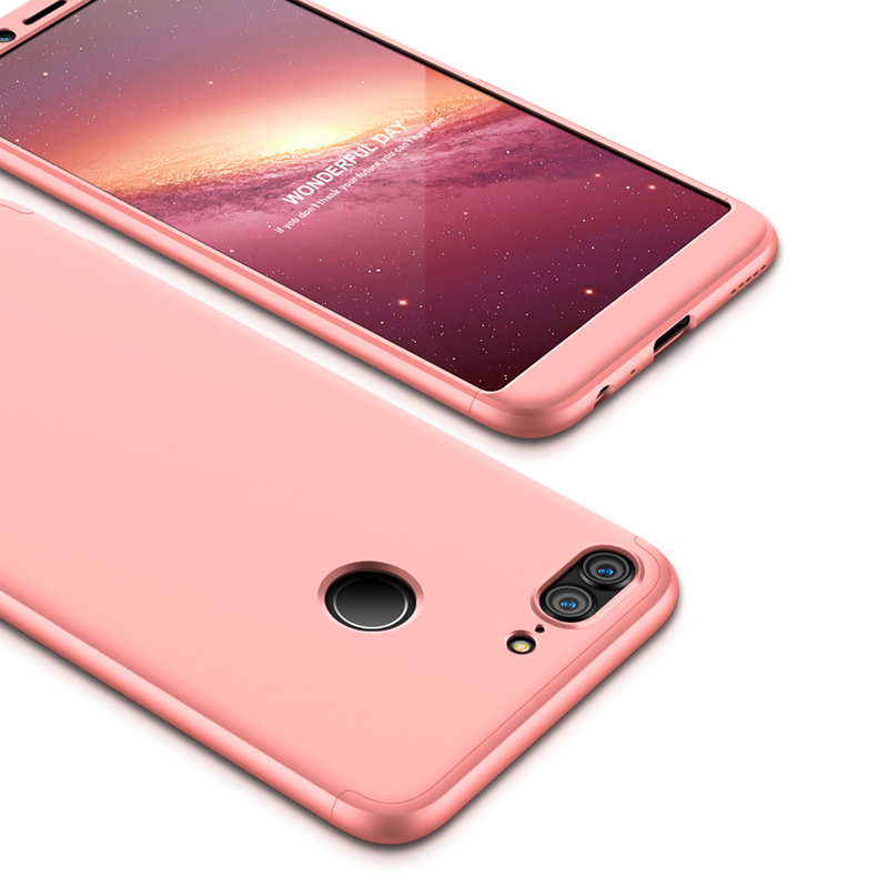 For HUAWEI Honor 9 Lite Full Body 360 Degree Protection PC Back Cover  Rose gold