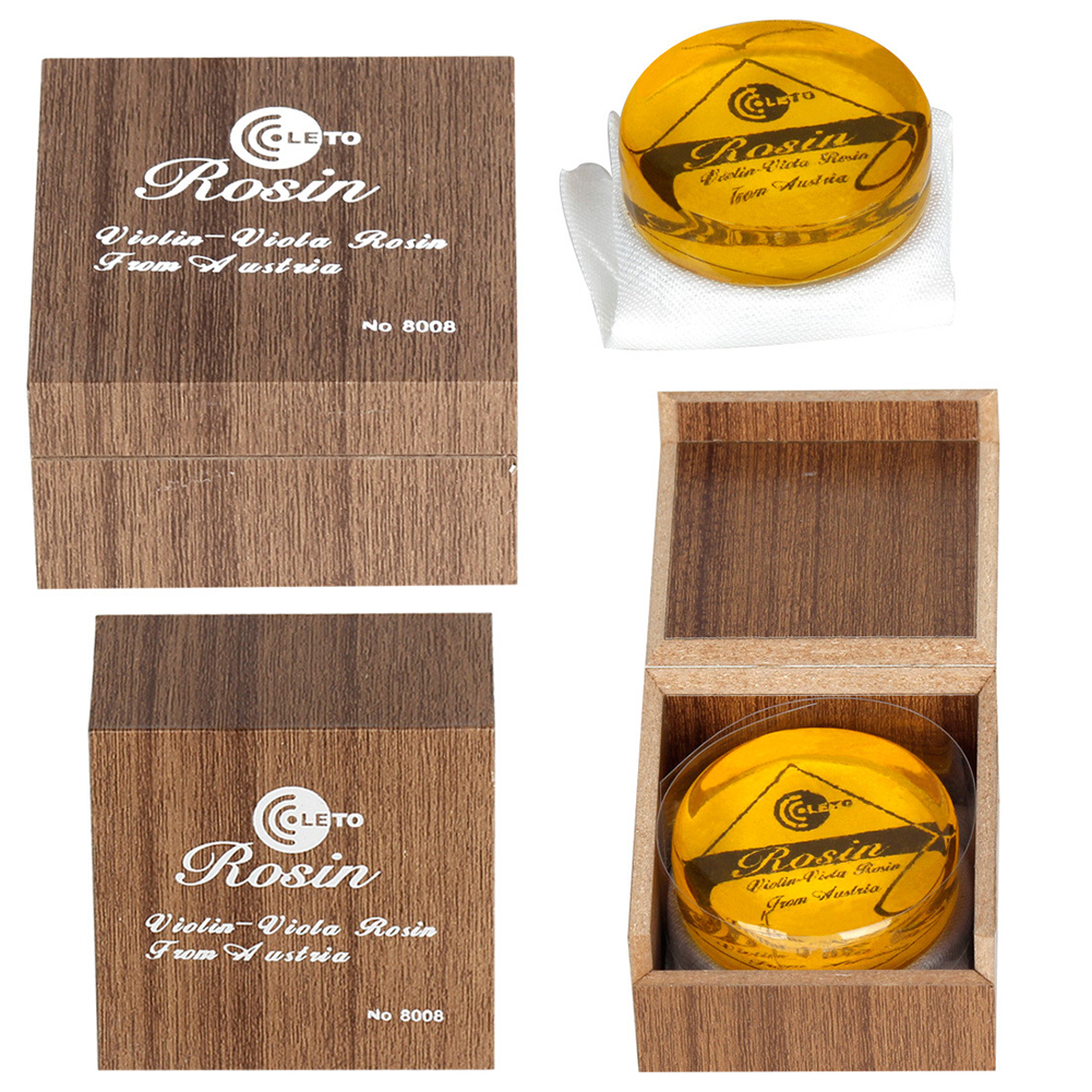 Transparent Yellow Rosin Resin Colophony Low Dust Handmade Rounded with Box for Violin Viola Cello Bowed String Transparent gold