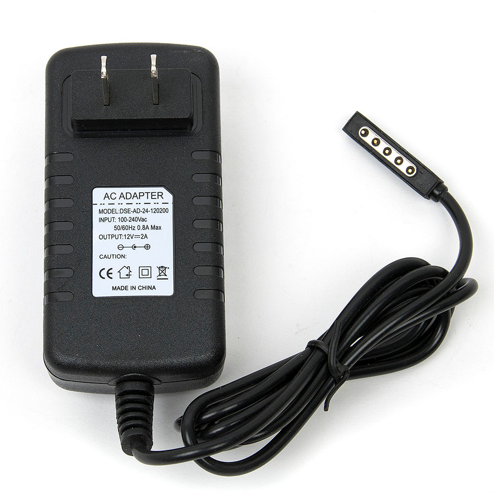 12V 2A Travel Tablet Wall Adapter for Microsoft Surface 2/RT Tablet Fast Charging Portable Charger  US plug