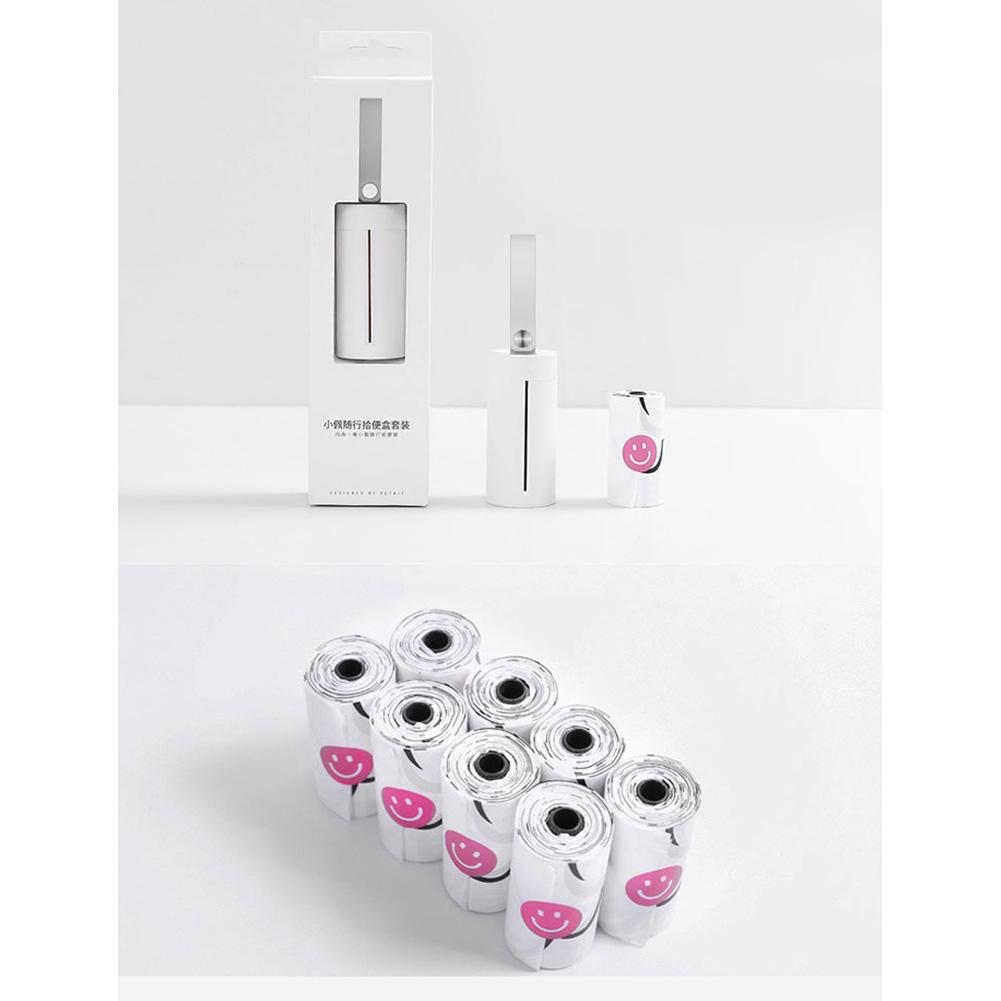 Portable Pet Dog Poop Bag Waste Dispenser Trash Bag for Pooper Scooper Set + 8 rolls (1 toilet box + 135 toilet bags)