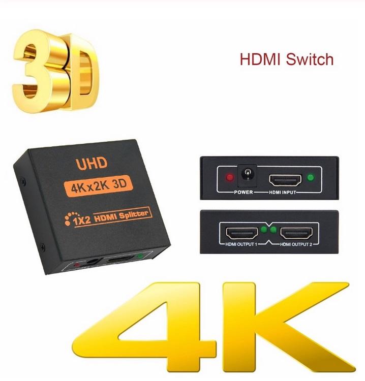 4k*2k HDMI Splitter Full HD 1080p Video HDMI Switch Switcher  European plug
