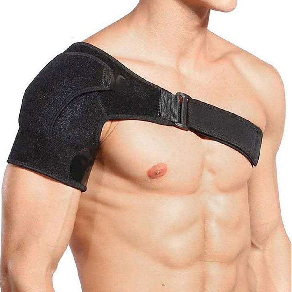 Sport Bandage Shoulder Proterction Adjustable Shoulder Belt Shoulder Protector black