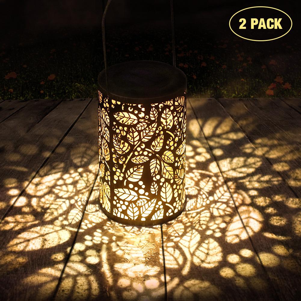 Litake 2PCS Solar Lantern Lights