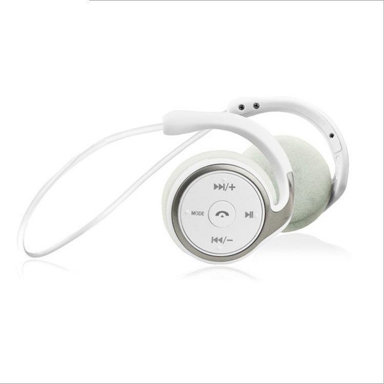 Sports Bluetooth Headphones Suicen AX-698 Support 32G TF Card FM Radio Portable Neckband Wireless Earphones Headset Auriculars white