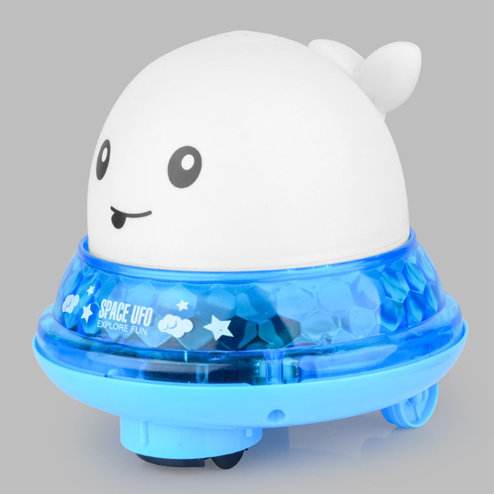 Water Spray Bath Toy Whale Shape Led Light Music Water Spray Ball Baby Bath Water Induction Toy Water jet whale (white) + universal base