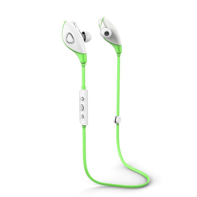 4.1 Bluetooth Earphone Earloop Earbuds Stereo Bluetooth Headset Wireless Sport Earpiece Handsfree green
