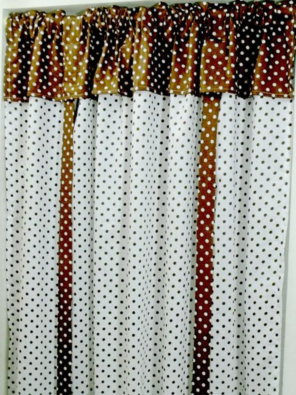 Short curtains Item No. C07 150*150CM Coffee+White