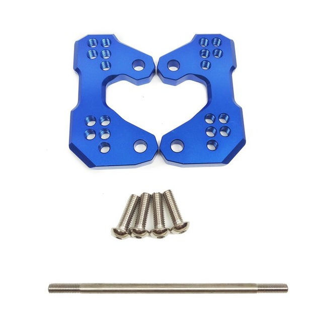 Motorcycle Adjustable Rearsets Foot Pegs Mount Bracket Base for YAMAHA YZF-R3 MT-03 15-16 blue