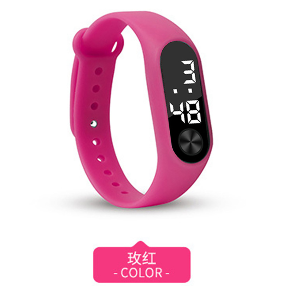 Simple Watch Hand Ring Watch Led Sports Fashion Electronic Watch Rose red