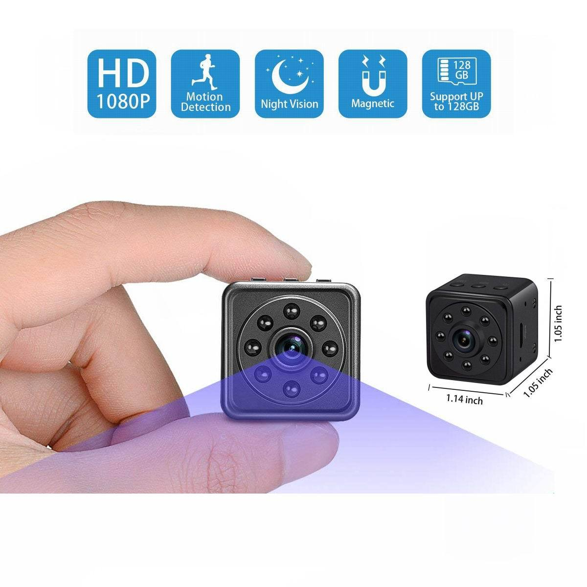1080P High Definition Night Vision Small Cube Smart Camera black