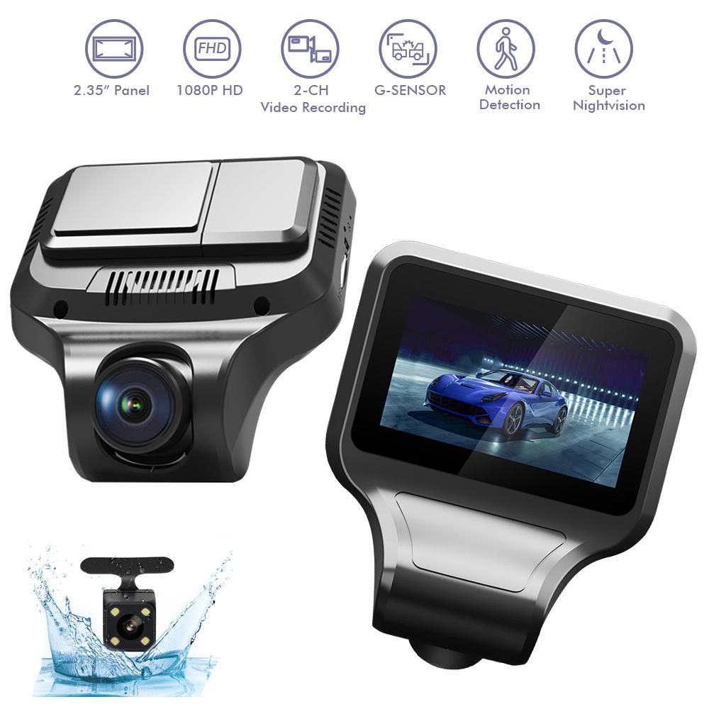 Car DVR T99 1080P Cameras Dual Lens With Rearview Camera Video Recorder Auto Registrator Dvrs Dash Cam black