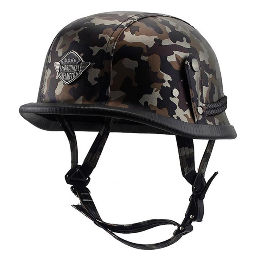 Helmet Personal Retro Cruiser Motorcycle Helmet Black camouflage L