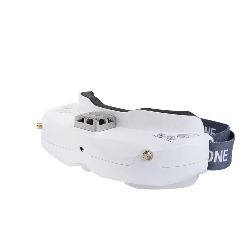 SKYZONE SKY02X 5.8Ghz 48CH Diversity FPV Goggles Support 2D/3D HDMI Head Tracking With Fan DVR Front Camera For RC Racing Drone White