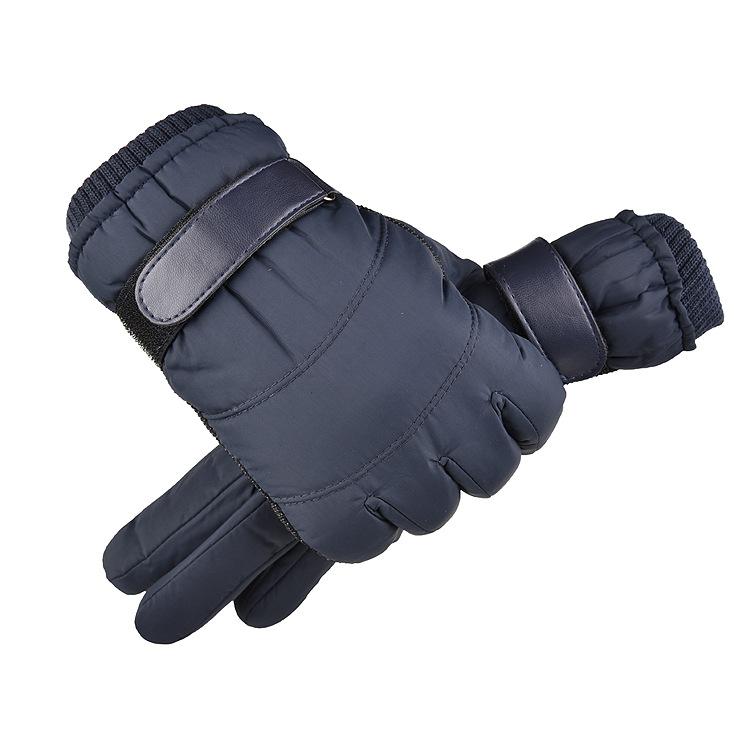 Men Women Warm Ski Gloves Winter Thermal Snowboard Gloves Waterproof Anti-Slip Touch Screen Gloves blue_One size