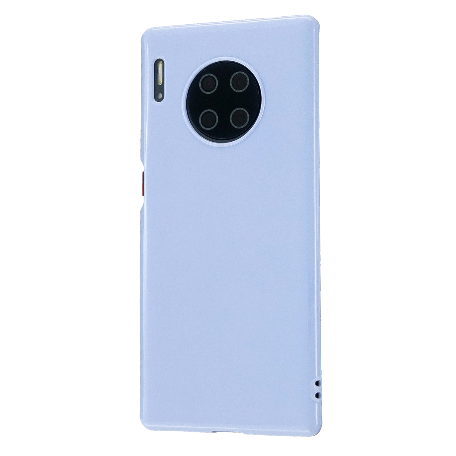 For HUAWEI Mate 30/30 Lite/30 Pro Cellphone Case Simple Profile Soft TPU Shock-Absorption Phone Cover Taro purple