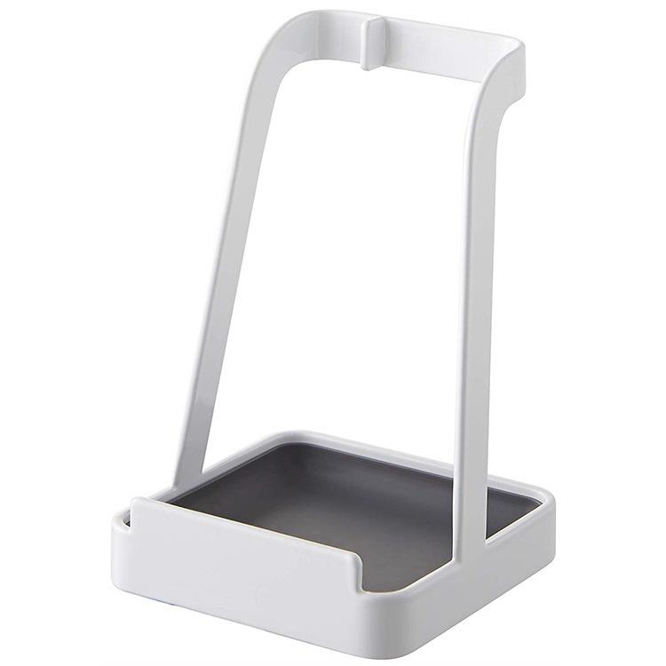 Home Ladle Holder Storage Soup Spoon Tray Lid  Stand Spatula Organizer Kitchen Utensils Rack Pot Cover Shelf white