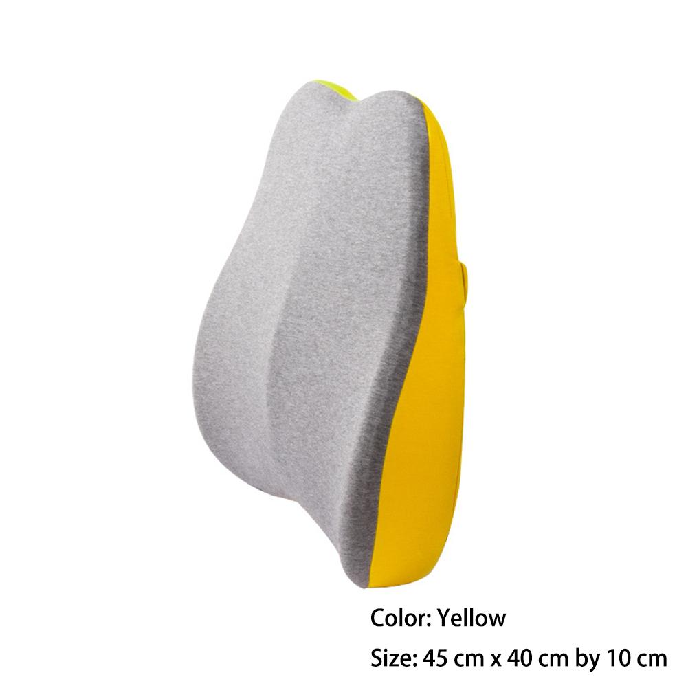 Waist  Cushion 45*40*10cm Ergonomic Designed Waist Support Pillow Memory Foam Lemon yellow