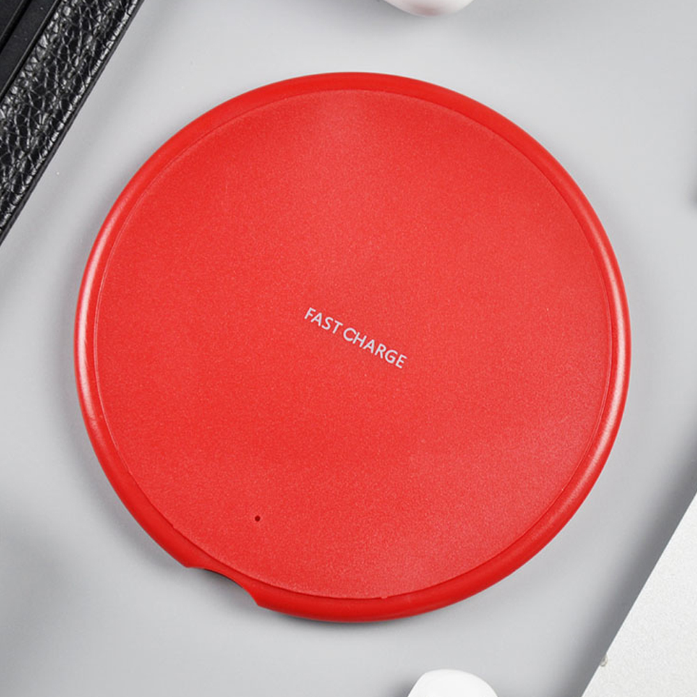 Fast Wireless Charger for Samsung Galaxy S9/S9/S8/S7/Note 9/S7 Edge USB Qi Charging Pad for iPhone XS Max XR X 8 Plus red