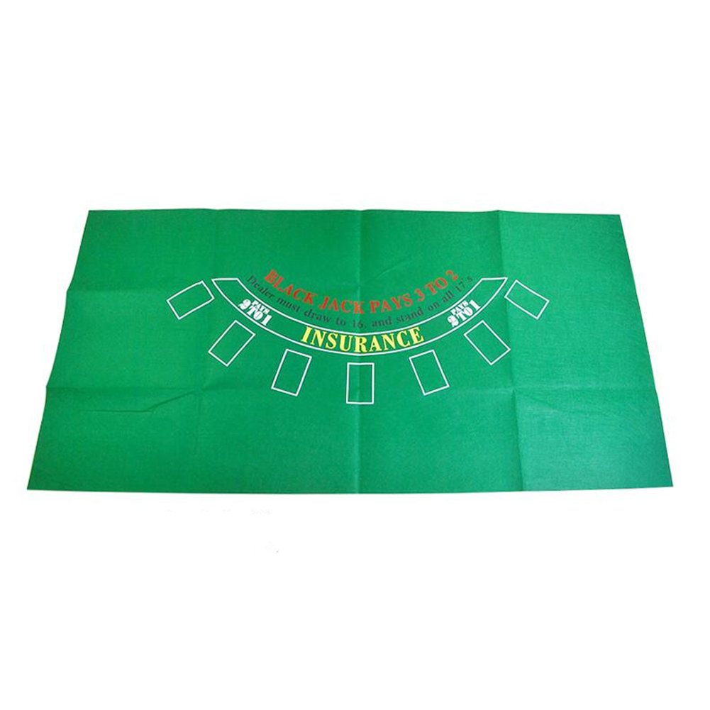 Game Tablecloth Game Table Felt Non-woven Cloth Waterproof Table Mat Black Jack Roulette Tablecloth As shown