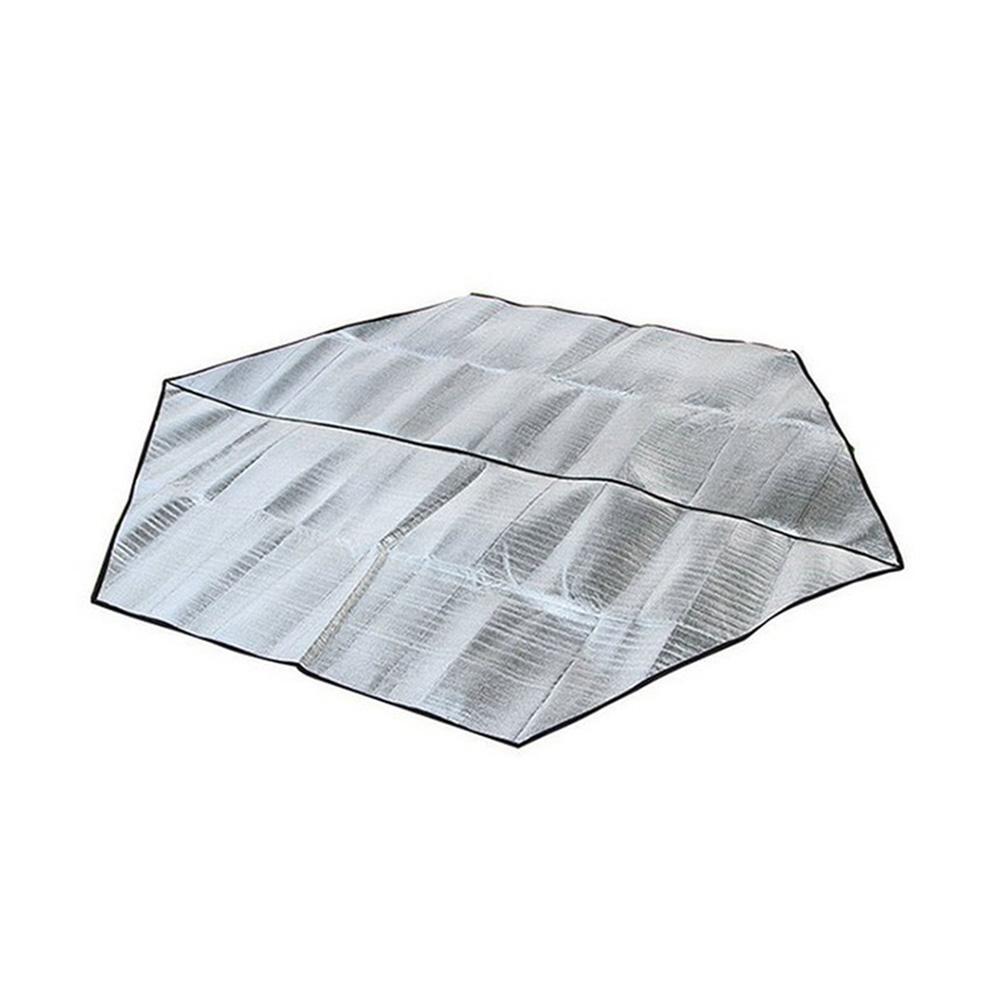 Dampproof Mat Hexagonal Aluminum Membrane Camping Tents Mat Anti-Moisture Picnic Mat 3-4 people hexagon