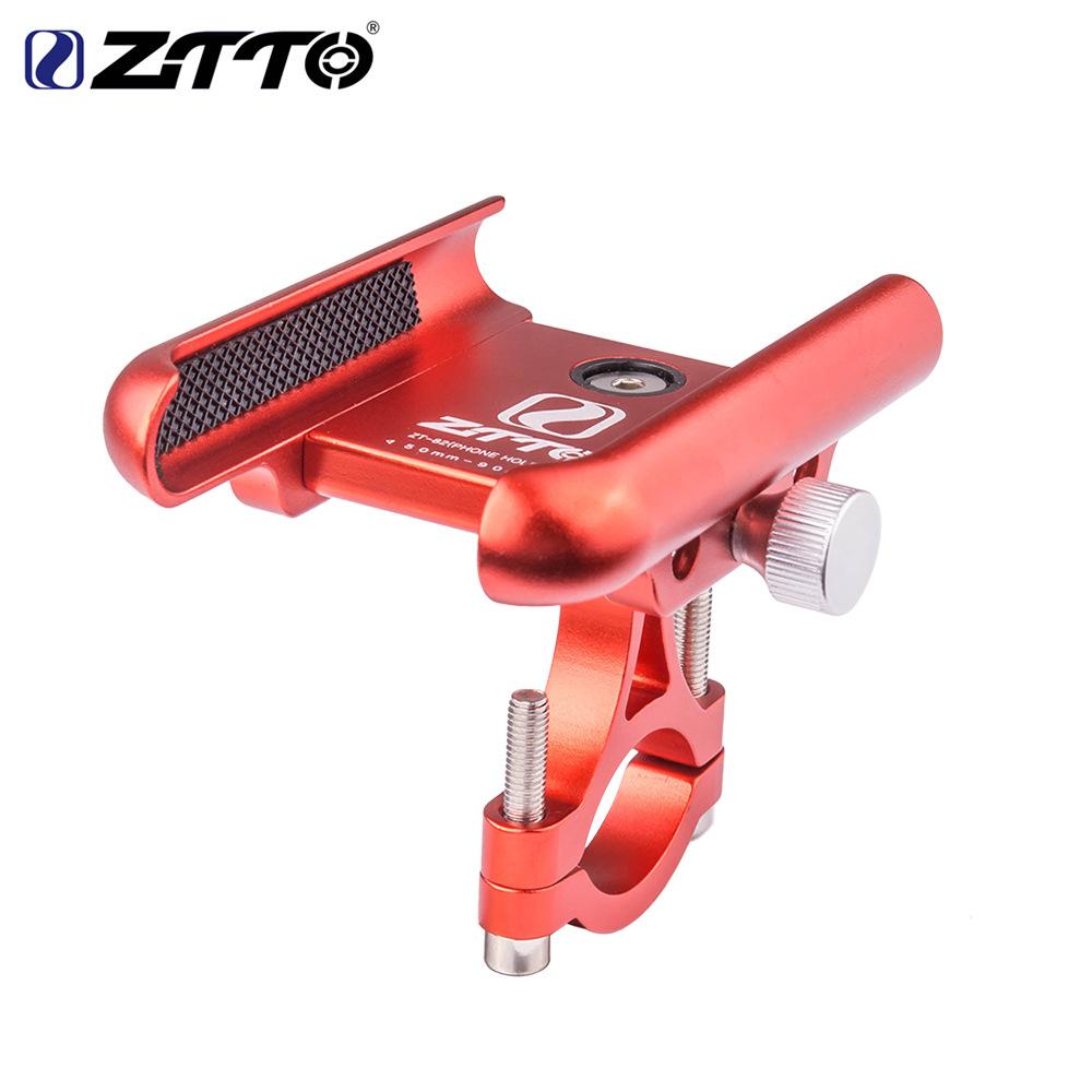 ZTTO Bicycle Aluminium Alloy Mobile Phone Bracket GPS Bracket Motorcycle Navigation Bracket Z82 red