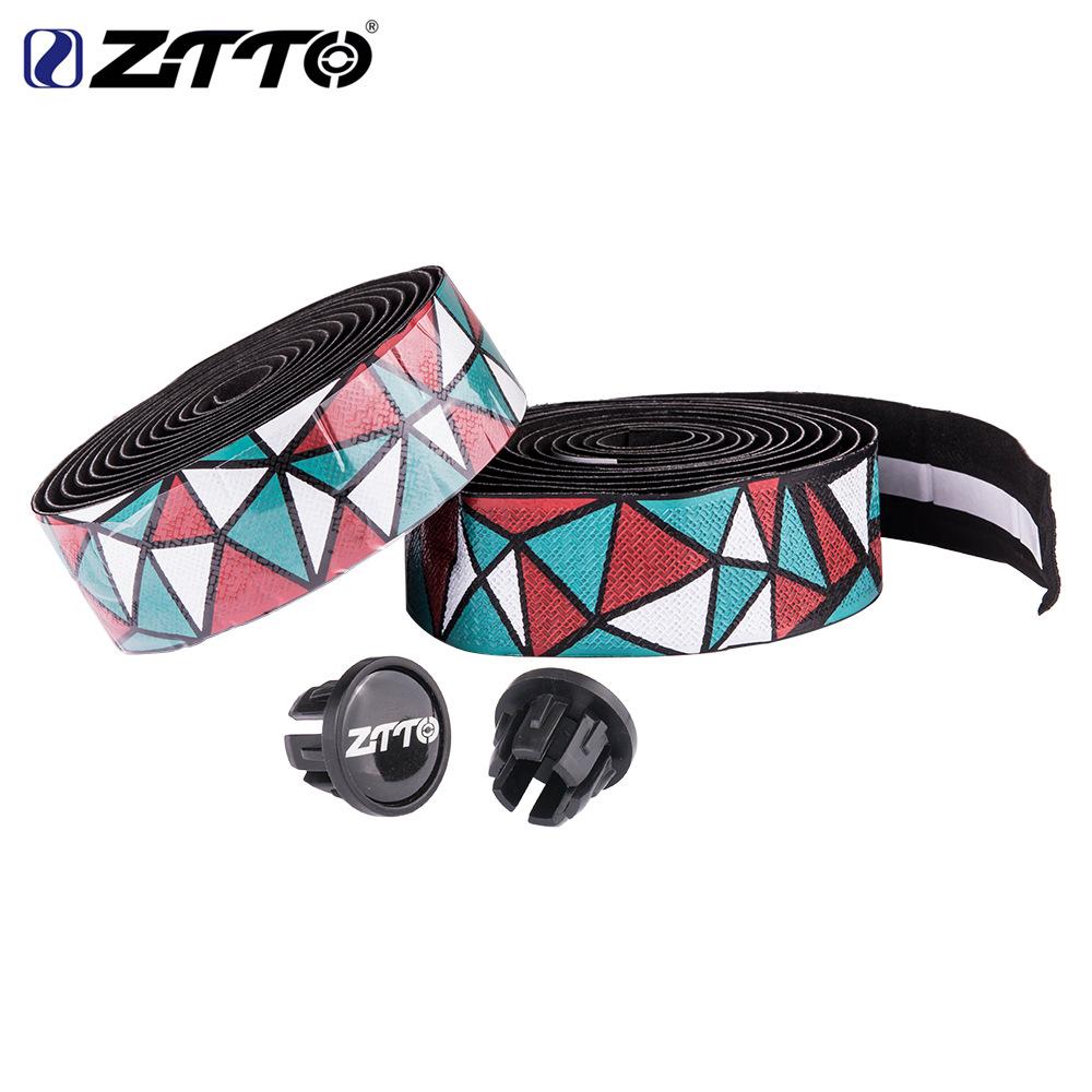 ZTTO Road Bike Bar Tape Handlebar EVA PU Tape Shock-Proof Roadbike High Toughness Bartape With Bar Plug Red green white