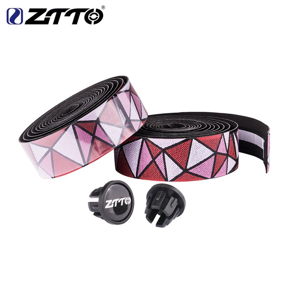 ZTTO Road Bike Bar Tape Handlebar EVA PU Tape Shock-Proof Roadbike High Toughness Bartape With Bar Plug Red pink white