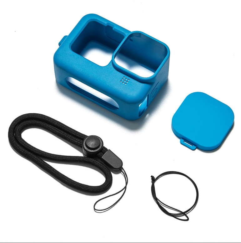 Frame Silicone Protective Housing Case Skin Lens Cover for GoPro Hero 9 Black Action Camera Accessories blue