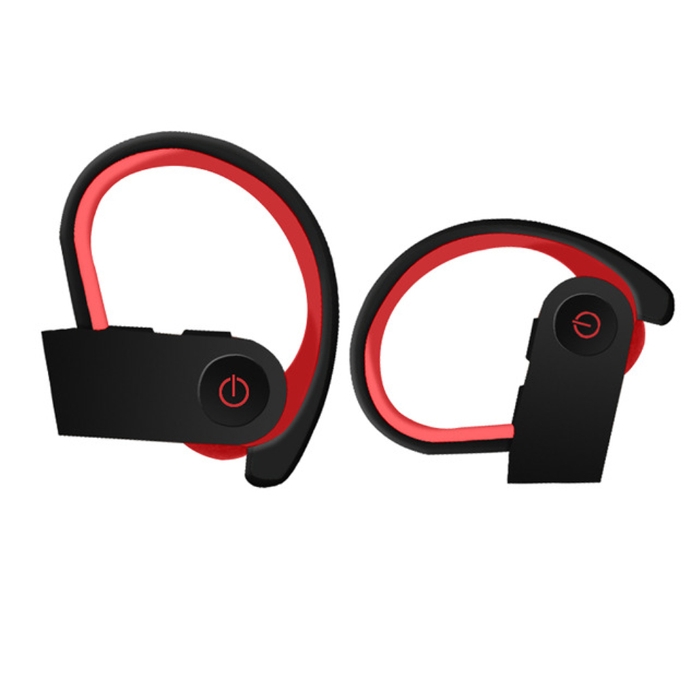 Wireless Bluetooth Call 5.0 Stereo Auto Connect Bluetooth Headset Black red