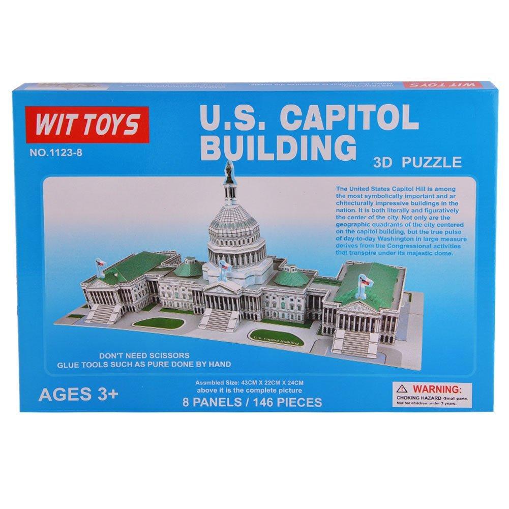 [US Direct] 146-Piece US Capital Building 3D Puzzle Building Toy Brain Teaser