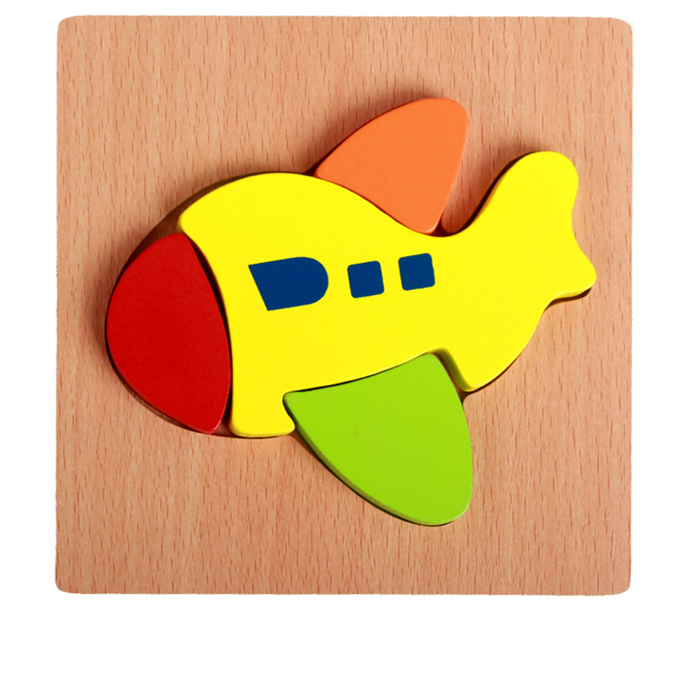 3d Wooden Puzzle  Learning Early  Educational Toys For  Children  Kids aircraft