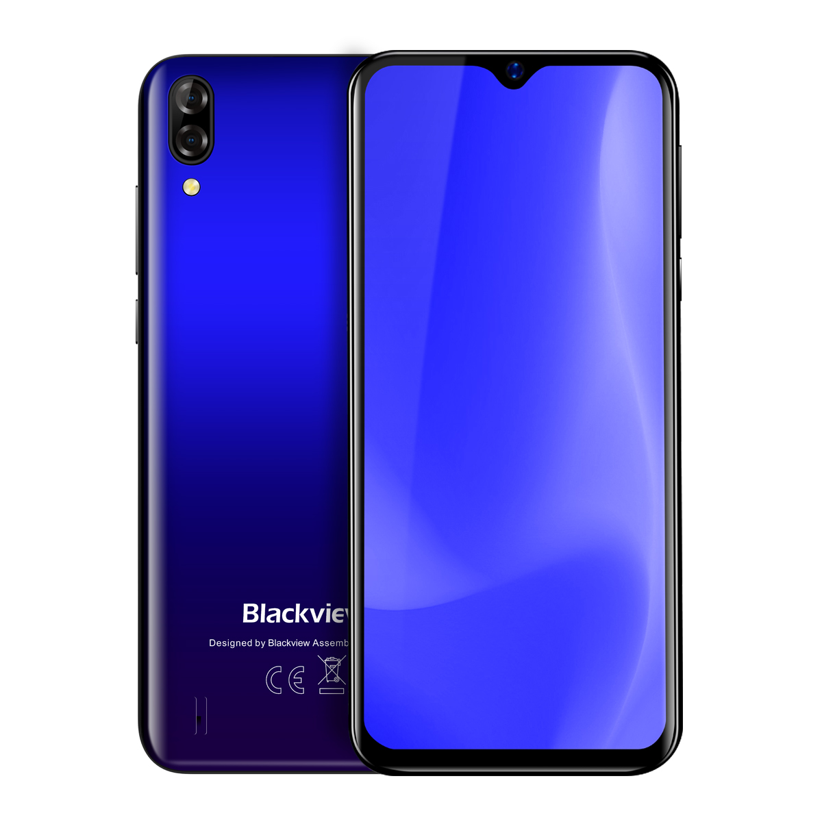 Blackview A60 Android 8 1 Smartphone - 4080mAh, 13MP Rear Camera, 1GB RAM,  16GB ROM, Quad Core, 6 1 Inch - Blue
