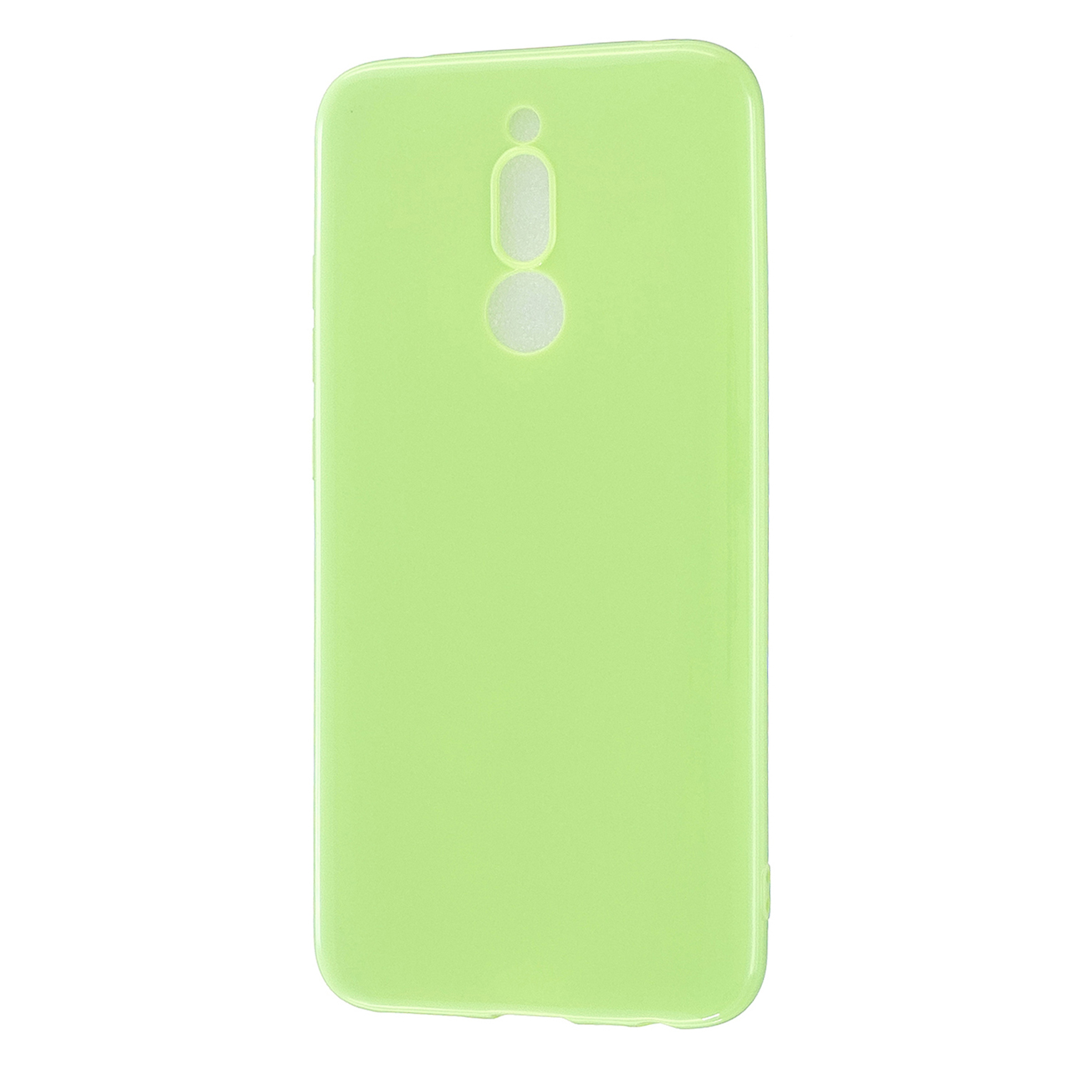 For Redmi 8 / Redmi 8A Cellphone Cover Glossy TPU Phone Case Defender Full Body Protection Smartphone Shell Fluorescent green