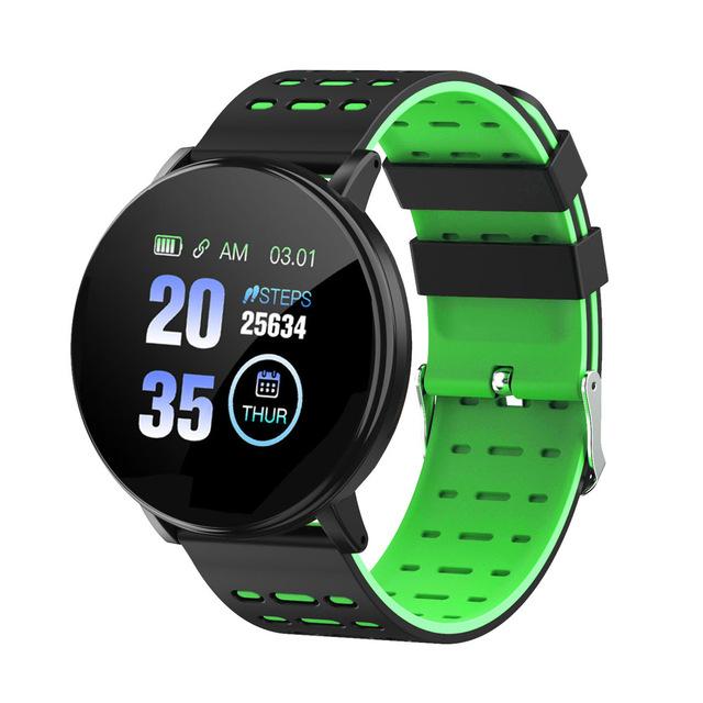 Smart Watch Blood Pressure Heart Rate Pedometer Fitness Tracker Smart Bracelet green