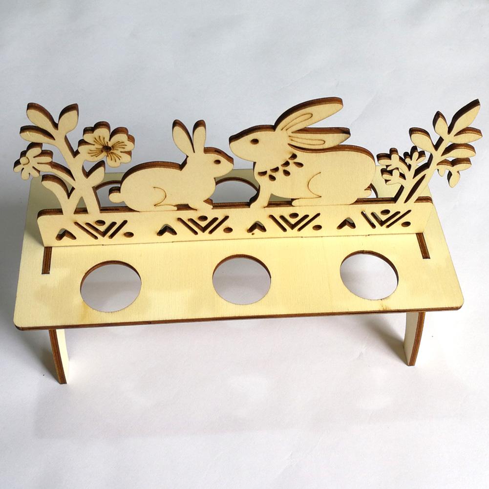 Wooden DIY Easter Egg Rack Ornament Decoration Home Decor Pendant for Easter JM00331